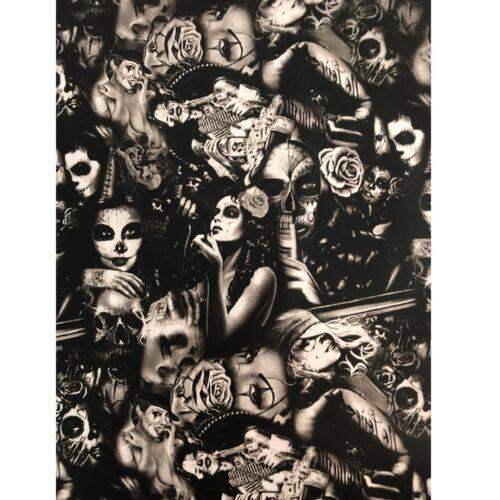 ARTwork, Wassertransferdruck, Folie Dead Woman, 50cm Breite