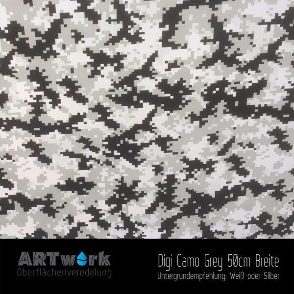 ARTwork, Wassertransferdruck, Folie Digital Camouflage Grau, 50cm Breite