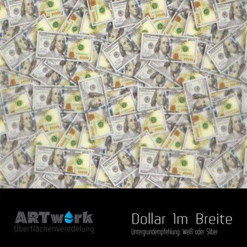 ARTwork, Wassertransferdruck, Folie Dollar, 1m Breite