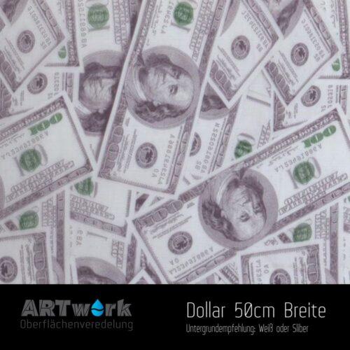 ARTwork, Wassertransferdruck, Folie Dollar, 50cm Breite