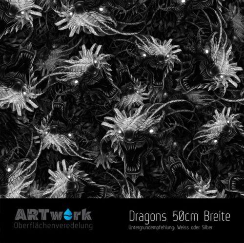 ARTwork, Wassertransferdruck, Folie Dragons, 50cm Breite