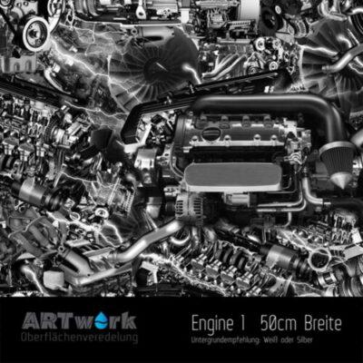ARTwork, Wassertransferdruck, Folie Engine I, 50cm Breite
