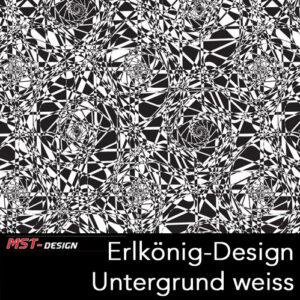 MST-Design, Wassertransferdruck, Folie Erlkönig-Design, Untergrund weiß