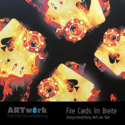 ARTwork, Wassertransferdruck, Folie Fire Cards, 1m Breite