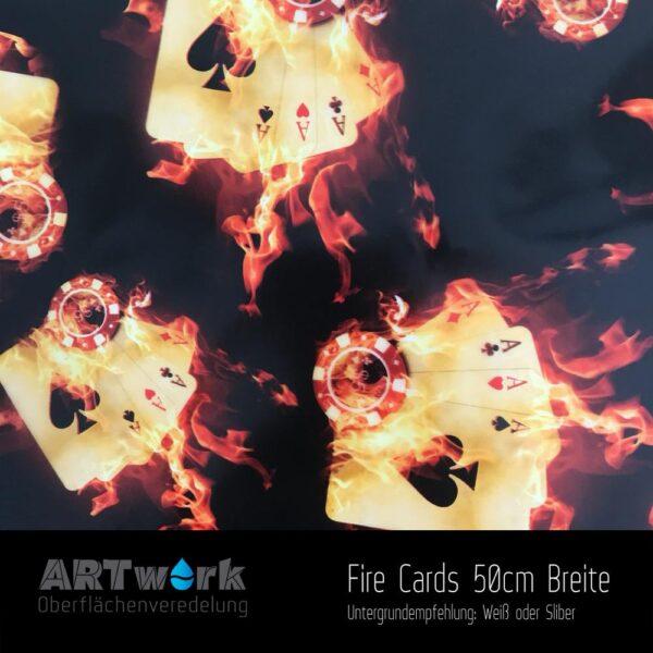 ARTwork, Wassertransferdruck, Folie Fire Cards, 50cm Breite