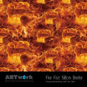 ARTwork, Wassertransferdruck, Folie Fire Fist, 50cm Breite