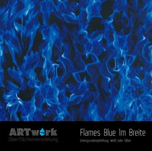 ARTwork, Wassertransferdruck, Folie Flames Blue, 1m Breite