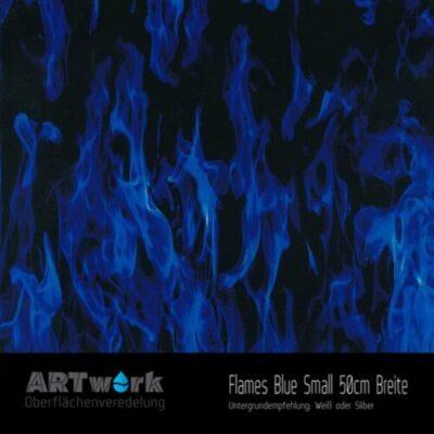 ARTwork, Wassertransferdruck, Folie Flames Blue Small, 50cm Breite