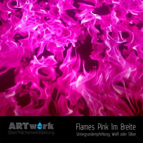 ARTwork, Wassertransferdruck, Folie Flames Pink, 1m Breite