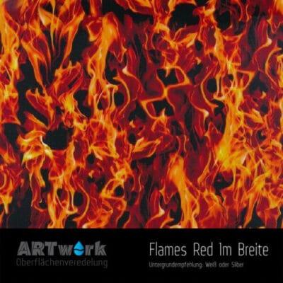 ARTwork, Wassertransferdruck, Folie Flames Red, 1m Breite