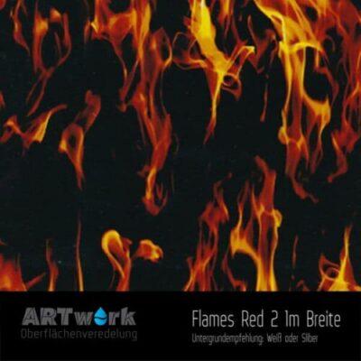 ARTwork, Wassertransferdruck, Folie Flames Red 2, 1m Breite