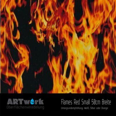 ARTwork, Wassertransferdruck, Folie Flames Red Small, 50cm Breite
