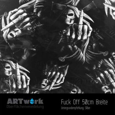 ARTwork, Wassertransferdruck, Folie Fuck Off, 50cm Breite
