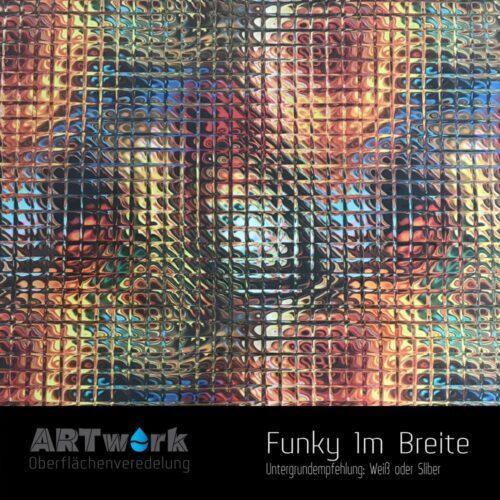 ARTwork, Wassertransferdruck, Folie Funky, 1m Breite