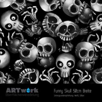 ARTwork, Wassertransferdruck, Folie Funny Skull, 50cm Breite
