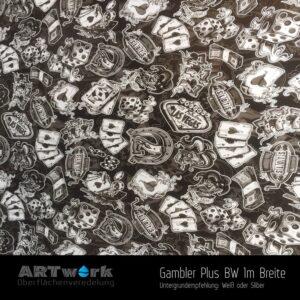 ARTwork, Wassertransferdruck, Folie Gambler Plus BW, 1m Breite