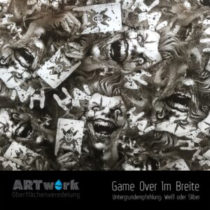ARTwork, Wassertransferdruck, Folie Game Over, 1m Breite