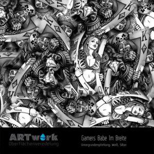 ARTwork, Wassertransferdruck, Folie Gamers Babe, 1m Breite