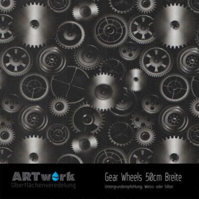 ARTwork, Wassertransferdruck, Folie Gear Wheels, 50cm Breite