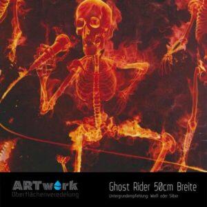 ARTwork, Wassertransferdruck, Folie Ghost Rider, 50cm Breite