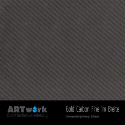 ARTwork, Wassertransferdruck, Folie Gold Carbon Fine, 1m Breite