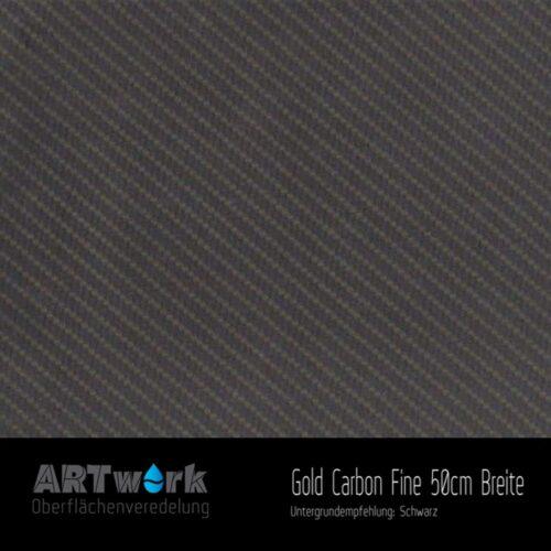 ARTwork, Wassertransferdruck, Folie Gold Carbon Fine, 50cm Breite