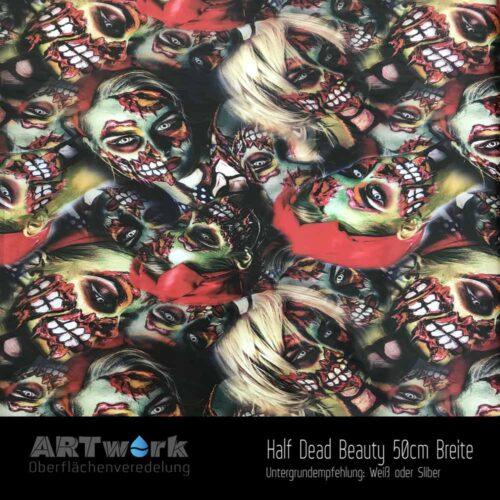 ARTwork, Wassertransferdruck, Folie Half Dead Beauty, 50cm Breite