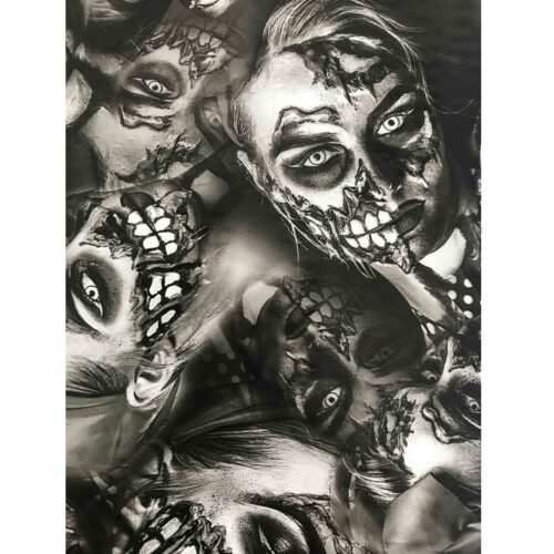 ARTwork, Wassertransferdruck, Folie Half Dead Beauty BW, 50cm Breite