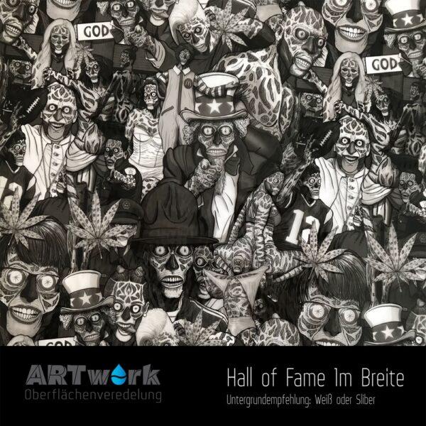 ARTwork, Wassertransferdruck, Folie Hallof Fame, 1m Breite