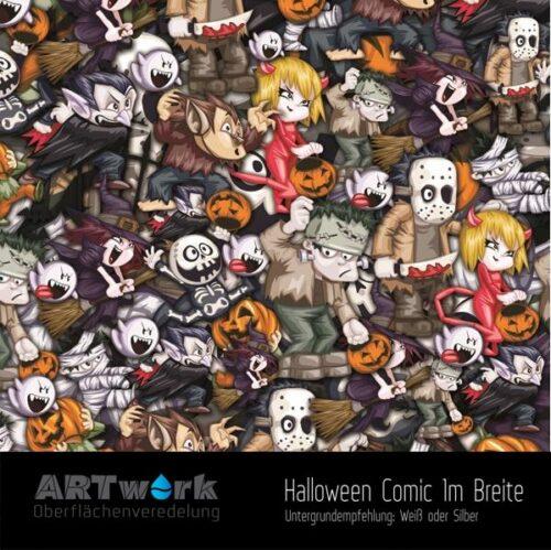 ARTwork, Wassertransferdruck, Folie Halloween Comic, 1m Breite