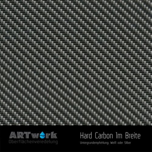 ARTwork, Wassertransferdruck, Folie Hard Carbon, 1m Breite