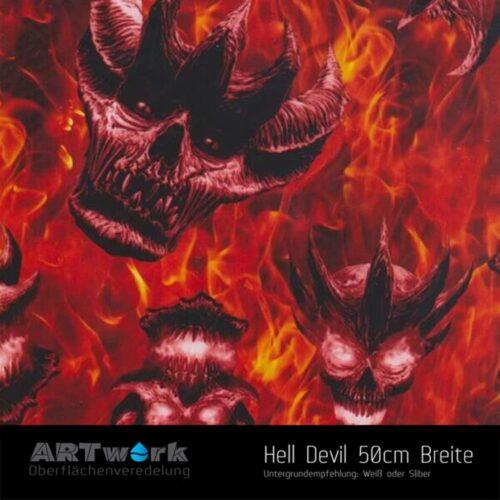 ARTwork, Wassertransferdruck, Folie Hell Devil, 50cm Breite