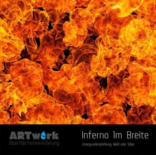 ARTwork, Wassertransferdruck, Folie Inferno, 1m Breite