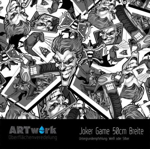 ARTwork, Wassertransferdruck, Folie Joker Game, 50cm Breite