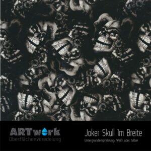ARTwork, Wassertransferdruck, Folie Joker Skull, 1m Breite