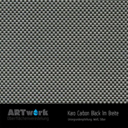 ARTwork, Wassertransferdruck, Folie Karo Carbon Black, 1m Breite