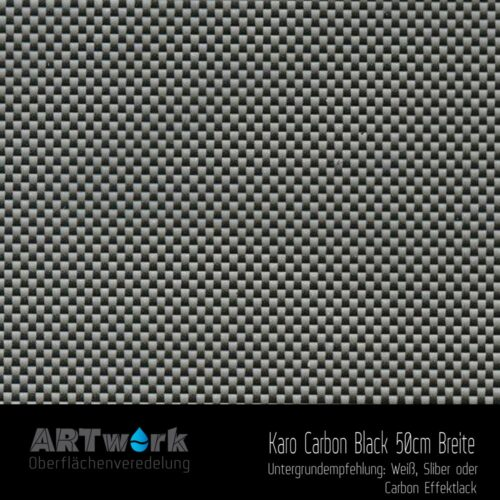 ARTwork, Wassertransferdruck, Folie Karo Carbon Black, 50cm Breite