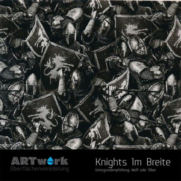 ARTwork, Wassertransferdruck, Folie Knights, 1m Breite