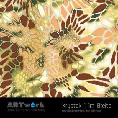 ARTwork, Wassertransferdruck, Kategorie Camouflage, Folie Kryptek 1, 1m Breite