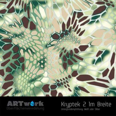 ARTwork, Wassertransferdruck, Kategorie Camouflage, Folie Kryptek 2, 1m Breite