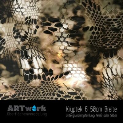 ARTwork, Wassertransferdruck, Kategorie Camouflage, Folie Kryptek 6, 50cm Breite