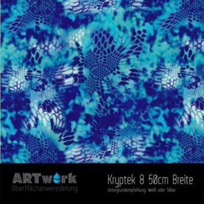 ARTwork, Wassertransferdruck, Kategorie Camouflage, Folie Kryptek 8, 50cm Breite