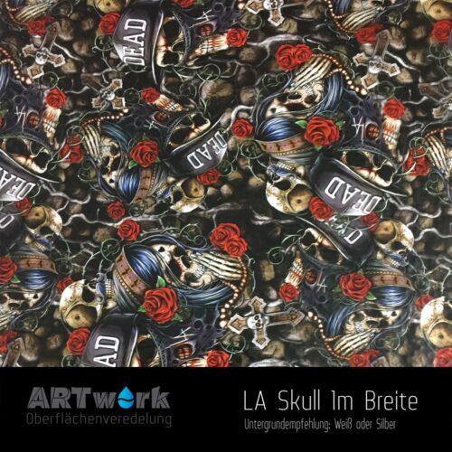 ARTwork, Wassertransferdruck, Folie LA Skull, 1m Breite