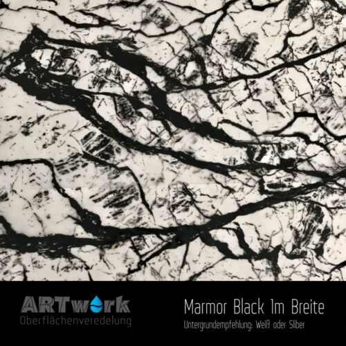 ARTwork, Wassertransferdruck, Folie Mamor Black, 1m Breite