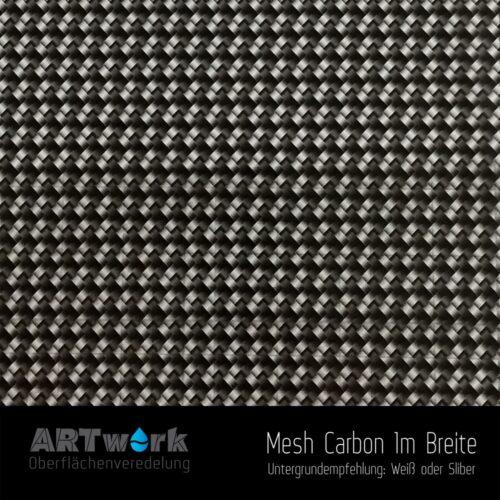 ARTwork, Wassertransferdruck, Folie Mesh Carbon, 1m Breite