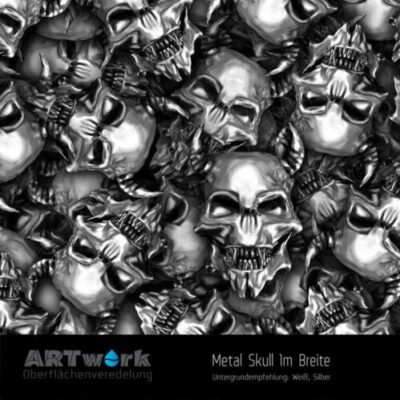 ARTwork, Wassertransferdruck, Folie Metal Skull, 1m Breite