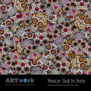 ARTwork, Wassertransferdruck, Folie Mexican Skull, 1m Breite
