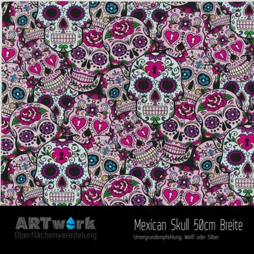 ARTwork, Wassertransferdruck, Folie Mexican Skull, 50cm Breite