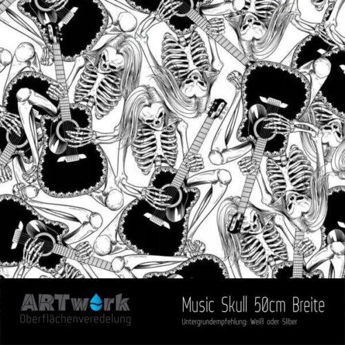 ARTwork, Wassertransferdruck, Folie Music Skull, 50cm Breite