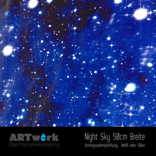 ARTwork, Wassertransferdruck, Folie Night Sky, 50cm Breite